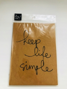 NOTES zeszyt KEEP LIFE SIMPLE Moshi Moshi Japonia